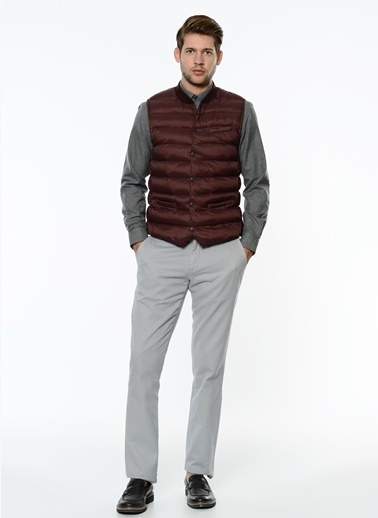 George Hogg Slim Fit Kanvas Pantolon Gri